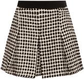 Proenza Schouler Velvet Tweed Monocrome Short