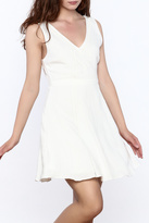 Everly Crisp White Sleeveless Dress