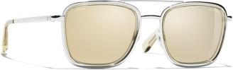 Chanel Square Sunglasses CH4241 Silver/Mirror Gold
