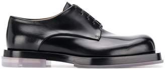 Bottega Veneta contrasting sole derby shoes