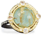 Armenta Old World Midnight Turquoise & Quartz Doublet Ring with Diamonds