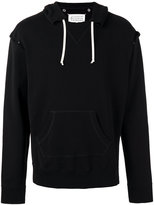 Maison Margiela open seam hoodie - men - Cotton - 50
