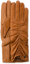 UGG Women's Ruched Leather Smart Glove