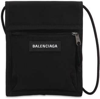 Balenciaga Logo Explorer Nylon Crossbody Bag