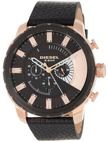 Diesel Men&s Stronghold Leather Watch