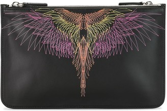 Marcelo Burlon County of Milan Wings print clutch bag
