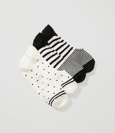 LOFT Ombre Stripe and Dot No Show Socks