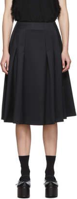 Noir Kei Ninomiya Black Wool Gabardine Skirt