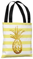 Tropical Stripes Pineapple Tote Bag