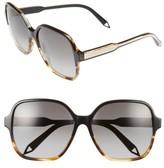 Victoria Beckham Women's Iconic Square 59Mm Sunglasses - Black/ Navy