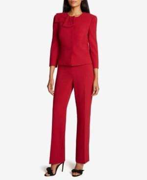 Tahari ASL Peplum Jacket Pants Suit