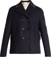 Valentino Rockstud Untitled #2 double-faced pea coat