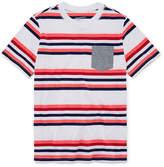 Arizona Short Sleeve Stripe T-Shirt-Boys 4-20