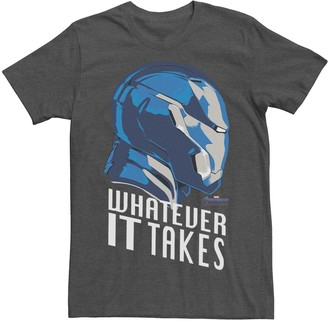 Marvel Men's Avengers Endgame Iron Man Whatever It Takes Graphic Tee