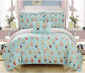 Chic Home Dumbo 6 Piece Reversible Comforter Set Happy Kids Theme