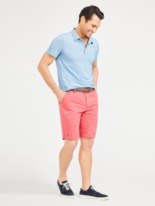 J.Mclaughlin Oliver Embroidered Shorts in Golf