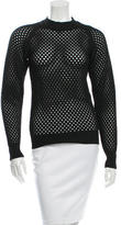 Carven Open Knit Crew Neck Sweater