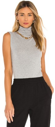 Enza Costa Lurex Jersey Sleeveless Turtleneck