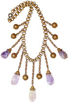 One Kings Lane Vintage Carved Amethyst Bib Necklace