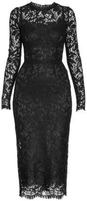 Dolce & Gabbana Long-Sleeve Lace Dress