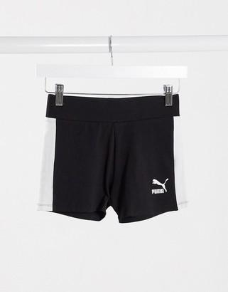 Puma classics booty shorts in black