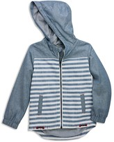 Sovereign Code Boys' Stripe & Solid Chambray Hoodie - Sizes S-XL