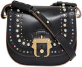 Paula Cademartori PBABFW16 VT ST08 LBR06 Petite Babeth Treasure Studded Saddle Cross Body Bag