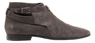 Saint Laurent Connor Jodphur Grey Suede Boots