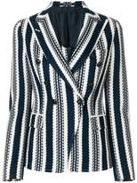 Tagliatore striped knitted blazer