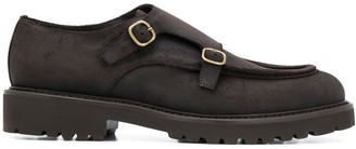Doucal's Monk Strap Leather Shoes