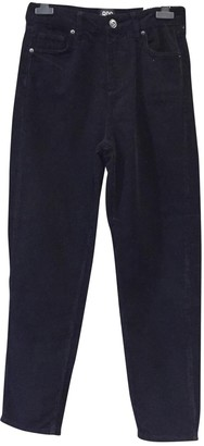 Urban Outfitters Black Cotton Trousers for Women