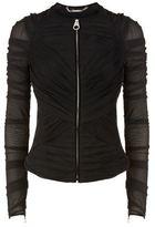Versace Ruched Mesh Zip Down Jacket