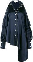 Jonathan Simkhai cold-shoulder asymmetric blouse - women - Spandex/Elastane/Acetate/Viscose - XS