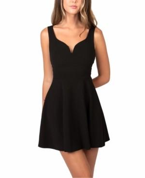 B. Darlin Juniors' Cross-Side A-Line Dress