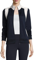 Tory Sport Colorblock Track Jacket, Blue/White