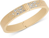 Michael Kors Scattered Crystal Hinged Bangle Bracelet
