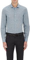 Boglioli Men's Checked Linen-Cotton Shirt
