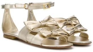 Elisabetta Franchi La Mia Bambina TEEN bow-detail sandals