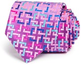 Robert Talbott Bright Interlocking Squares Classic Tie