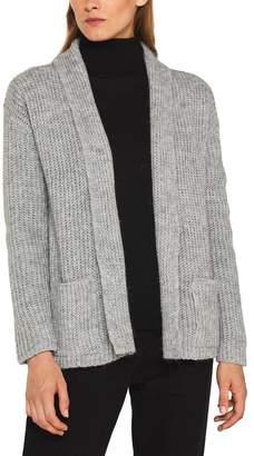 Esprit Womens Grey Pocket Cardigan - Grey