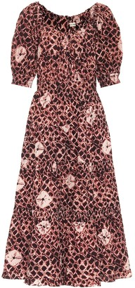 Ulla Johnson Colette floral cotton-poplin midi dress