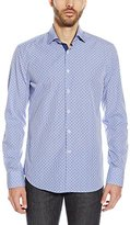 Stone Rose Men's Printed Gingham Long Sleeve Button Down Shirt