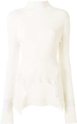 Dion Lee Mock Neck Ribbed Jumper