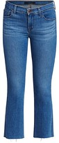 Thumbnail for your product : J Brand Selena Mid-Rise Crop Bootcut Jeans