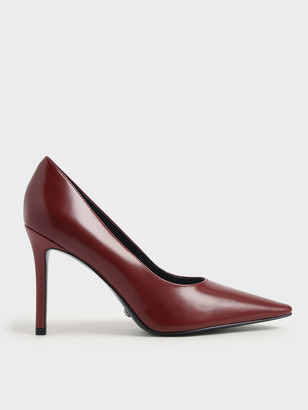 Charles & Keith Leather Stiletto Heel Pumps