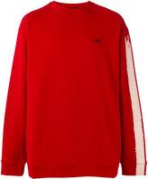 Raf Simons striped sleeve sweatshirt