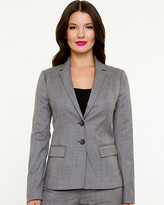 Le Château Crosshatch Notch Collar Blazer