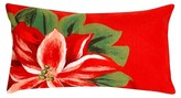 Liora Manné Red Poinsettia Throw Indoor/Outdoor Pillow