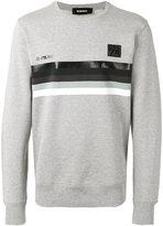 Diesel striped panel sweatshirt - men - Cotton - S