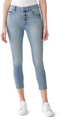 DL1961 Farrow Instaslim Distressed High Waist Crop Skinny Jeans
